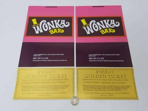 Wonka Bar Wrappers and Golden Tickets