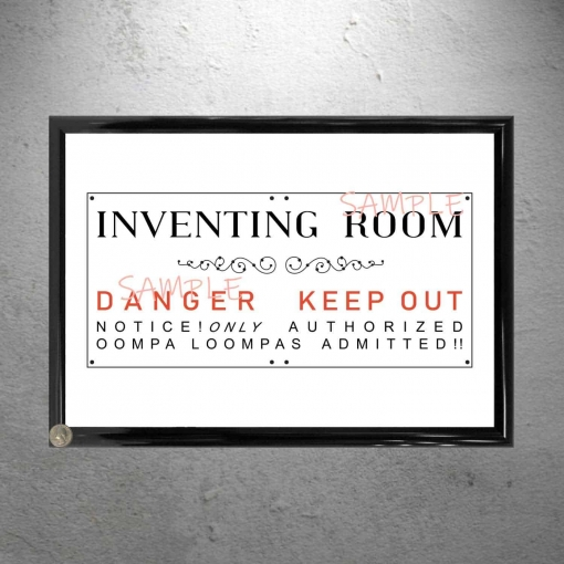 Willy Wonka Framed Inventing Room Poster Print
