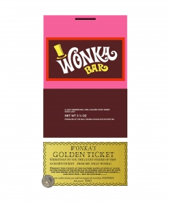 Willy Wonka Bar Candy Wrapper and Golden Ticket