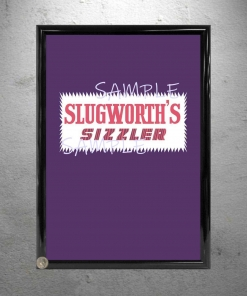Framed Willy Wonka Slugworth Sizzler print poster