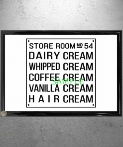 Willy Wonka Storage Room Hair Cream Framed Poster Sign
