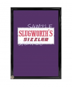 Slughworth's Sizzler Framed Candy Wrapper - Willy Wonka
