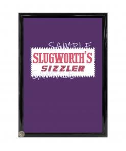 Slughworth's Sizzler Framed Candy Wrapper - Willy Wonka