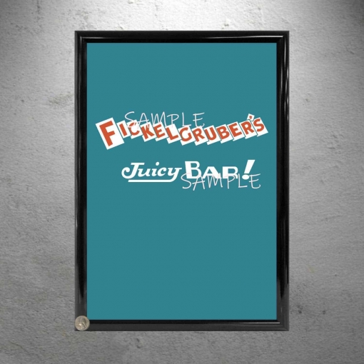 Willy Wonka Fickelgrubers Candy Bar framed poster