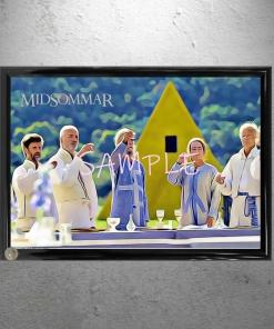 Framed Midsommar Yellow House Group Lunch Framed Art Print Poster Print 13 x 19