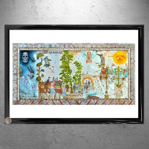 Midsommar Opening Mural Framed Art Artwork - Poster Print