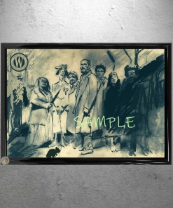 Snowpiercer Framed Group Sketch Sample