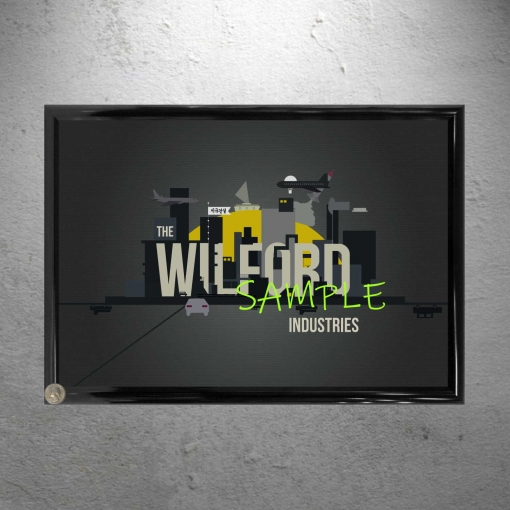 Framed Wilford Industries Poster Print
