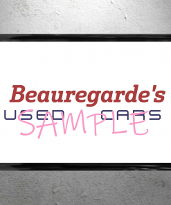 Willy Wonka - Beauregarde's Used Cars Framed Sign - 13 x 19