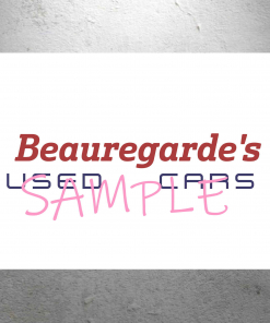 Willy Wonka - Beauregarde's Used Cars Sign - 13 x 19