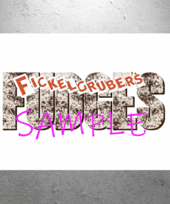 Willy Wonka - Fickelgrubers Fudge Candy Store Sign - 13 x 19