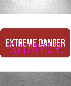 Willy Wonka and the Chocolate Factory EXTREME DANGER poster sign 13x19