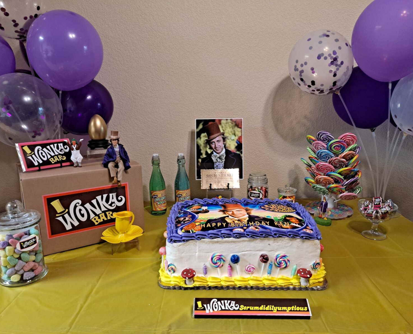 Willy Wonka Birthday Party Picture