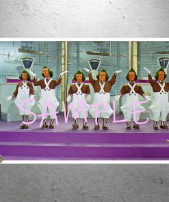 Willy Wonka - Oompa Loompas Singing Song In The Golden Egg Scene - Art Artwork