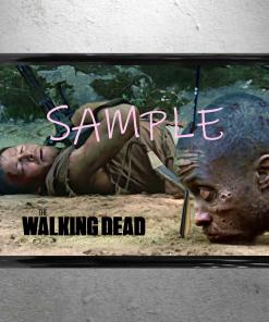 The Walking Dead - Daryl Dixon walker arrow head killshot scene framed poster