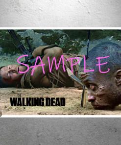 The Walking Dead --- Daryl Dixon walker arrow head killshot scene poster